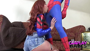 COSPLAY BABES Spiderman likes big boobs