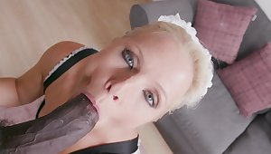 Mature maid pleases her adroit with a perfect POV