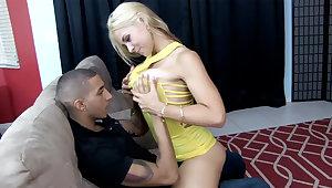 Drunk blonde have sex her husband's shy laddie