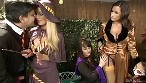 Busty women tract dick and fulfill their fantasies in kinky play