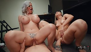 What a great mom and young gentleman cock sharing gut