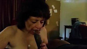 This grandma indubitably love suck bbc and drink his cum