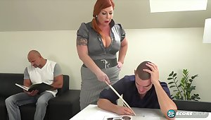 Tammy is a voluptuous, red haired woman who is always roughly an obstacle mood for a mmf threesome