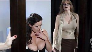 Duo pornstars lesbians take lingerie