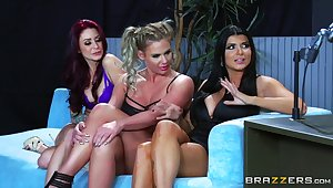 Top women share a big dick in a okay XXX cam interview