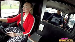 Sexy taxi driver Kayla Green gets her pussy fucked bilge water deep