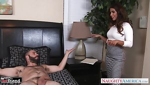 Gay blade fucks wife's best band together Isabella De Santos in mouth and pussy