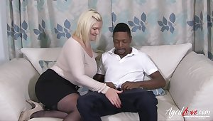 Hot hardcore interracial sex of british mature and typically handy black guy with huge weasel words