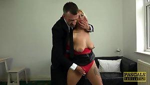 Kermis Latina endures a rough sexual stimulant during a kinky fetish play