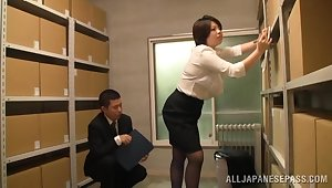 Japan grown-up gets laid at the office