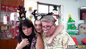 Naughty Anastasia Paladin spreads her legs to ride a Santa Claus
