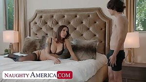 Naughty America: Shay Sights wants Ricky on touching do some chores and his cock!! on PornHD