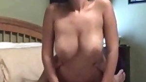 Bareback anal intercourse with flaming brunettes with big boobs