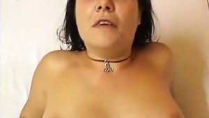 Bareback anal sex with flaming brunettes with big boobs