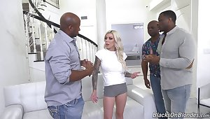 Hardcore interracial gangbang hither cum thither mouth be advisable for Kismet Rx