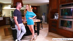 Cherie DeVille fucking in the corridor thither her innie pussy